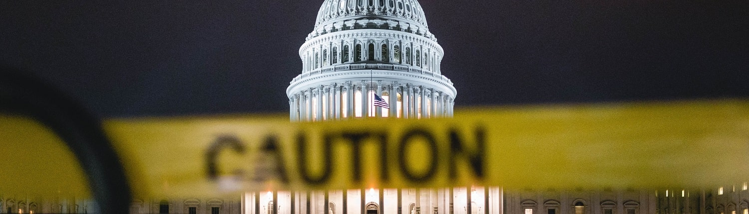 Caution tape over US capital