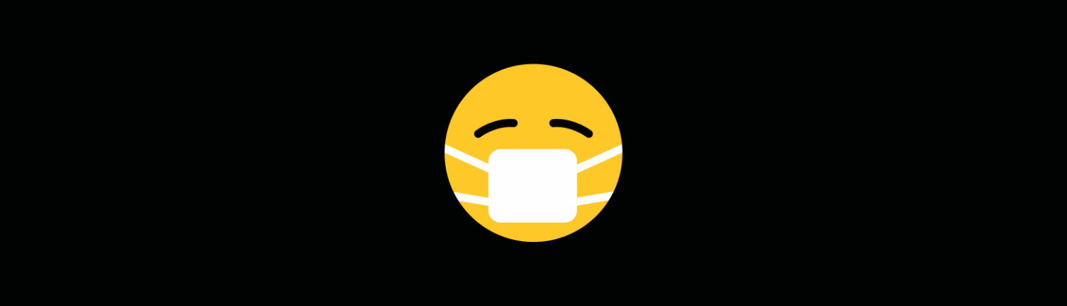 Emoji face with mask